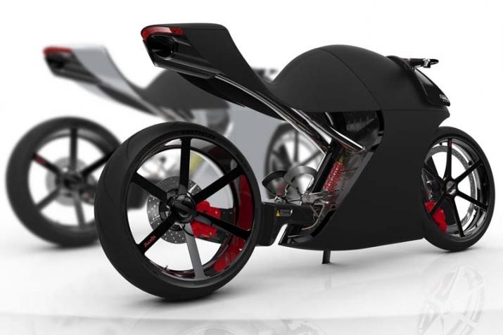 Audi trình làng bản concept xe hai bánh ấn tượng với tên gọi audi rr - 2
