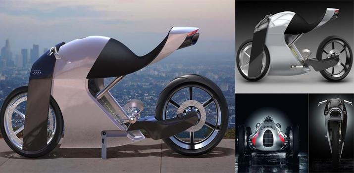 Audi trình làng bản concept xe hai bánh ấn tượng với tên gọi audi rr - 3