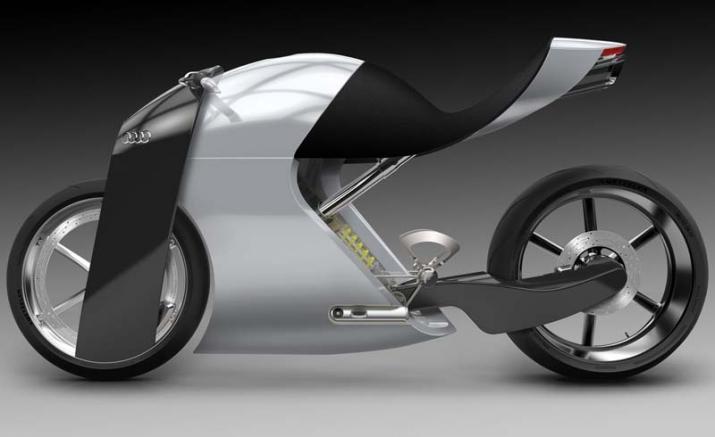 Audi trình làng bản concept xe hai bánh ấn tượng với tên gọi audi rr - 4