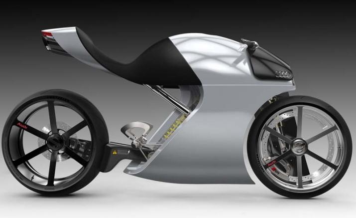 Audi trình làng bản concept xe hai bánh ấn tượng với tên gọi audi rr - 5