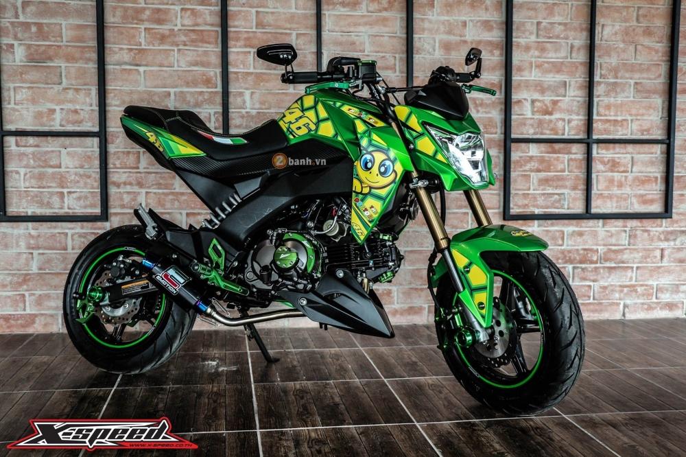 Kawasaki z125 đầy cá tính trong bộ cánh chú rùa - 1