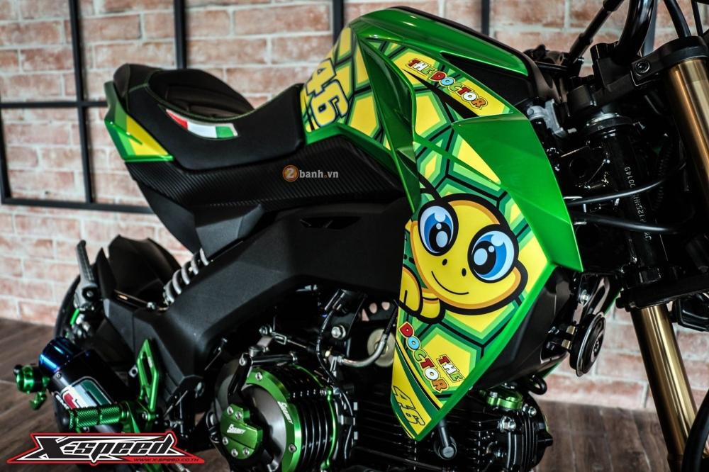 Kawasaki z125 đầy cá tính trong bộ cánh chú rùa - 2
