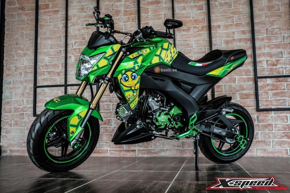 Kawasaki z125 đầy cá tính trong bộ cánh chú rùa - 4