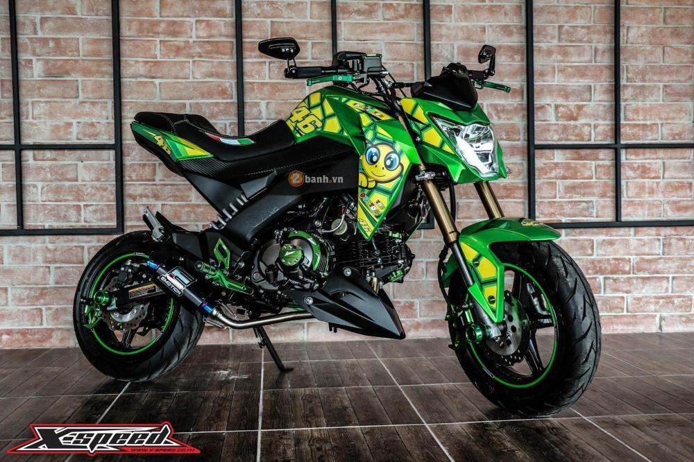 Kawasaki z125 đầy cá tính trong bộ cánh chú rùa - 5