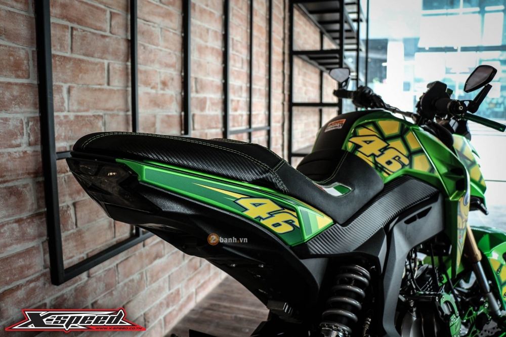 Kawasaki z125 đầy cá tính trong bộ cánh chú rùa - 6