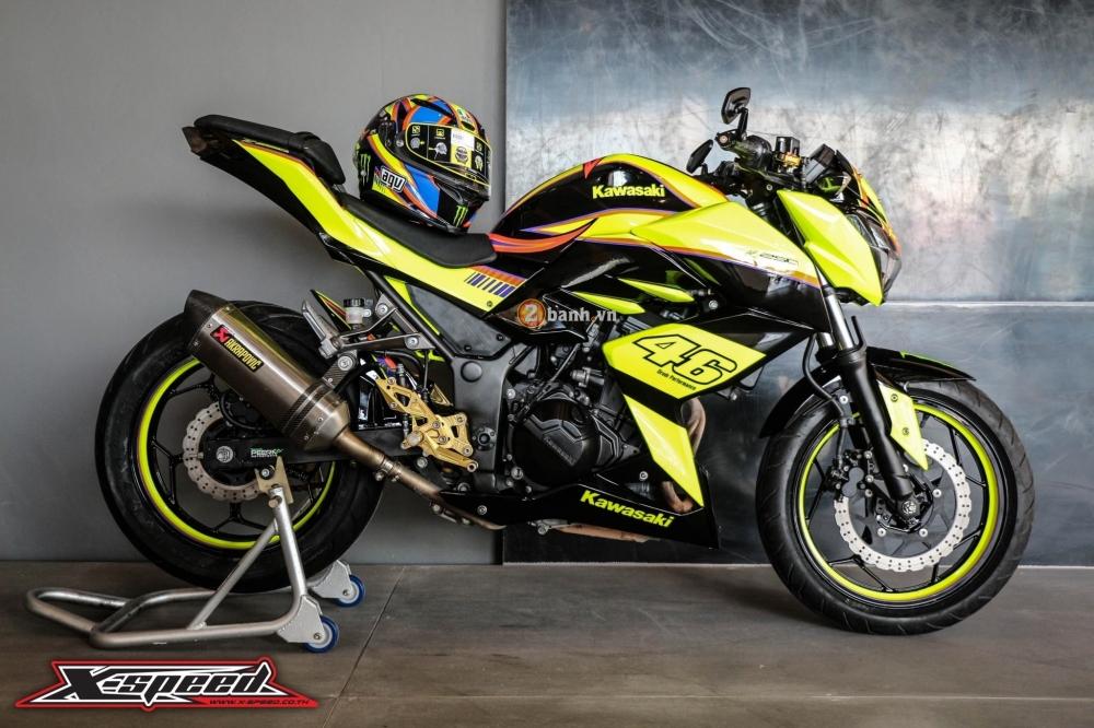 Kawasaki z250 nổi bật trong cánh agv corsa soleluna - 1