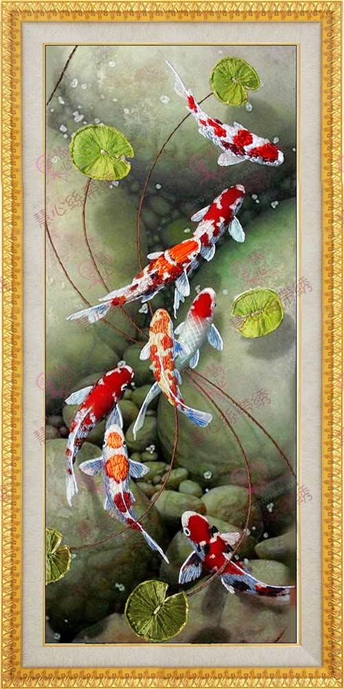 Tranh chữ thập cá chép dư dả liên tục - 5