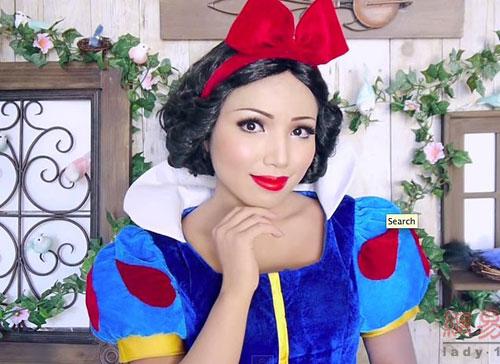 Cô gái có biệt tài hóa trang thành công chúa disney - 1