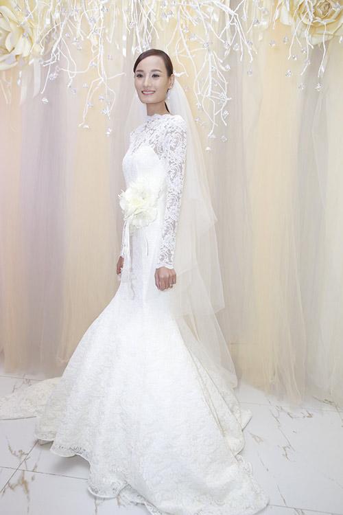 Tuần qua cô dâu tâm tít đẹp rạng ngời trong ngày cưới - 6