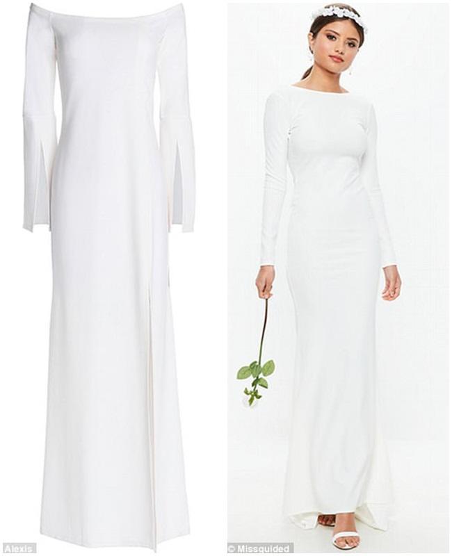 Váy cưới công nương meghan đã có phiên bản giá chỉ 700 nghìn - 5
