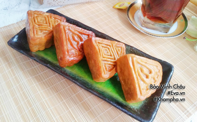Cách làm bánh nướng nhân đậu xanh cổ truyền cúng rằm tháng 7 - 6