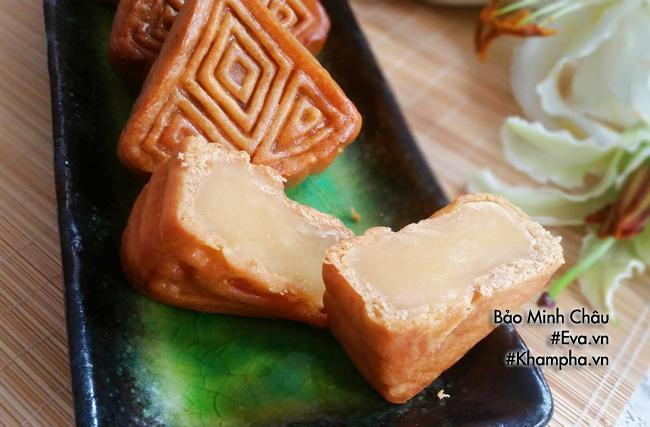 Cách làm bánh nướng nhân đậu xanh cổ truyền cúng rằm tháng 7 - 7