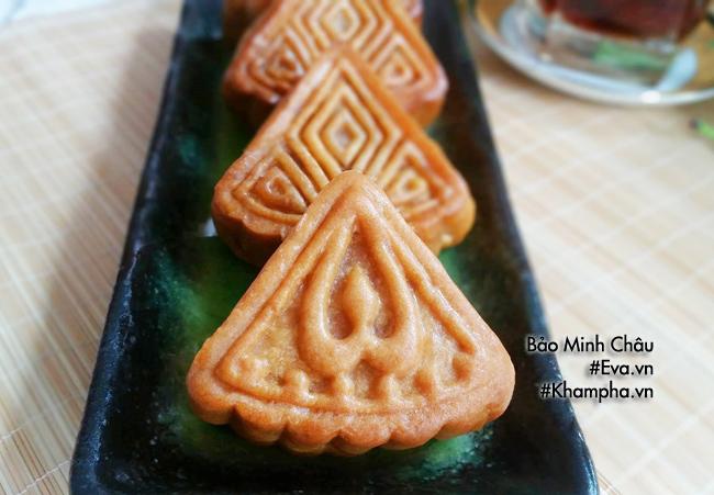 Cách làm bánh nướng nhân đậu xanh cổ truyền cúng rằm tháng 7 - 9