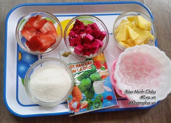 Cách làm bánh trung thu thạch rau câu nhân hoa quả vừa bổ vừa mát - 1