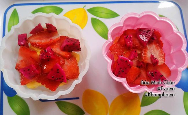 Cách làm bánh trung thu thạch rau câu nhân hoa quả vừa bổ vừa mát - 3