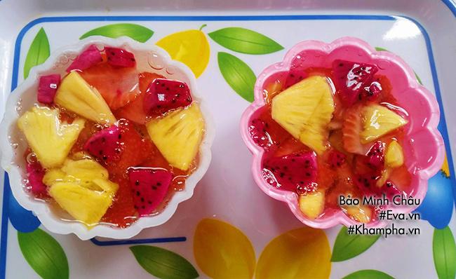 Cách làm bánh trung thu thạch rau câu nhân hoa quả vừa bổ vừa mát - 4