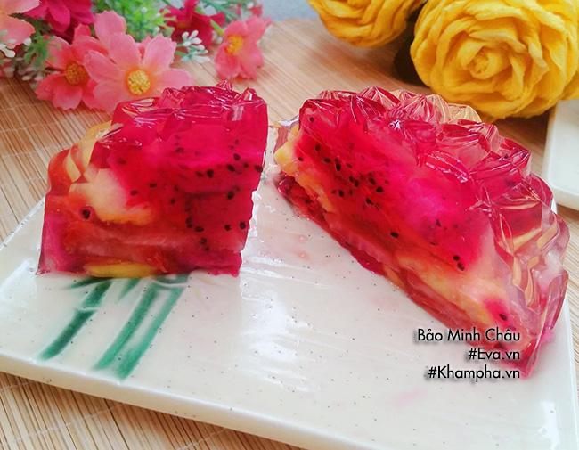Cách làm bánh trung thu thạch rau câu nhân hoa quả vừa bổ vừa mát - 6
