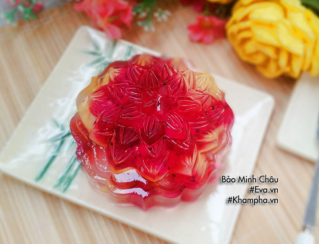 Cách làm bánh trung thu thạch rau câu nhân hoa quả vừa bổ vừa mát - 8
