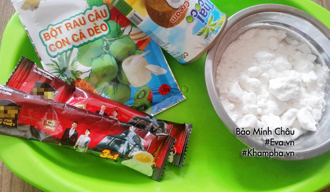 Cách làm bánh trung thu thạch rau câu vị cà phê cốt dừa - 1
