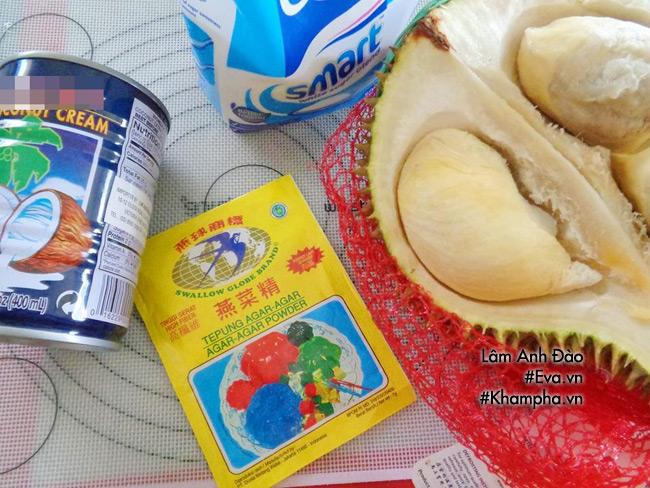 Cách làm bánh trung thu thạch rau câu vị sầu riêng ăn là thích liền - 1