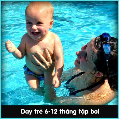 Chẳng khó dạy bé sơ sinh học bơi - 1