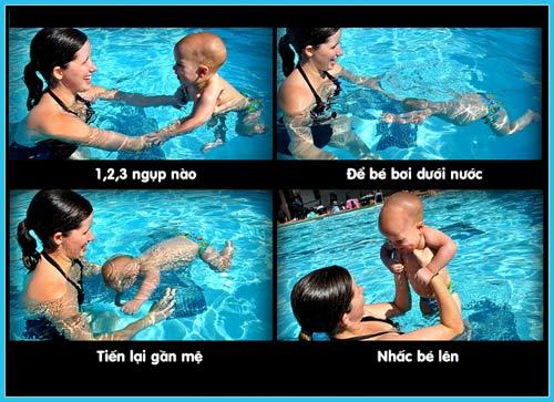 Chẳng khó dạy bé sơ sinh học bơi - 4