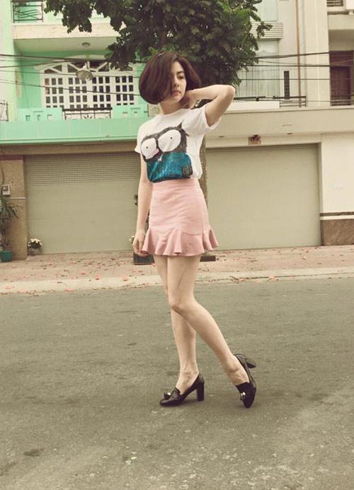 Thời trang du xuân rực rỡ của sao việt - 5