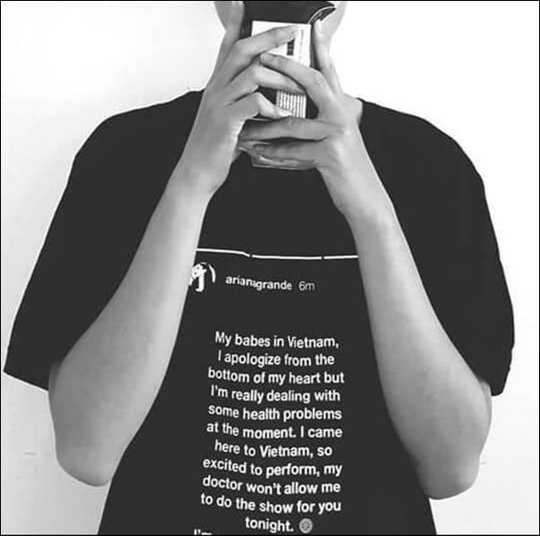 Tự sự kiện ariana grande hủy show dân thiết kế cho ra đời mẫu áo thun có tên gọi áo thun hủy diệt - 4