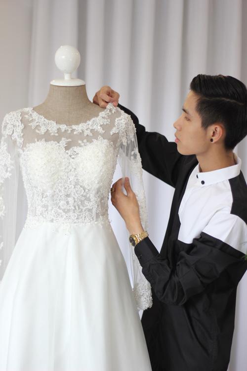 Cận cảnh váy cưới tâm tít sẽ mặc trong hôn lễ - 4