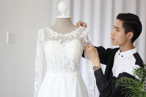 Cận cảnh váy cưới tâm tít sẽ mặc trong hôn lễ - 5