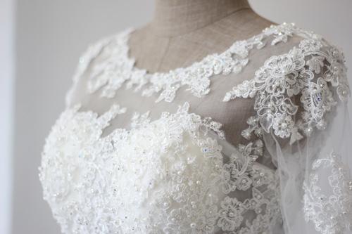 Cận cảnh váy cưới tâm tít sẽ mặc trong hôn lễ - 6