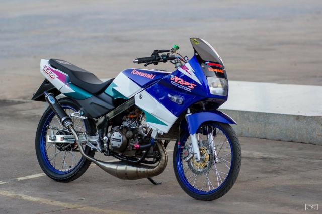 Kawasaki kips 150 độ ông vua 2 thì hồi sinh với dàn chân đầy ma mị - 8
